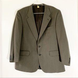 Vintage Burberry Gray Wool Suit Coat Blazer 46R